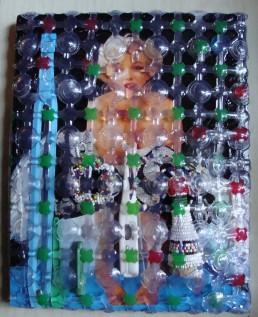 Marilyn dans les abysses - Techniques mixtes - 24 x 30 - 2015