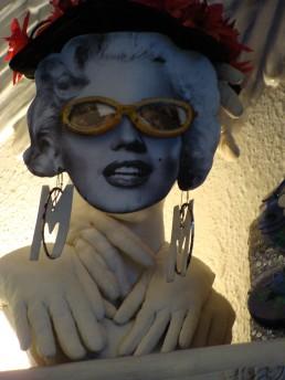 Marilyn lumineuse - Sculpture - Hauteur 38cm largeur 24cm - 2015